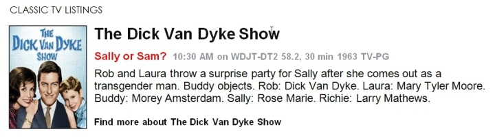 Classic TV Listings - The Dick Van Dyke Show
