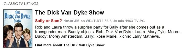 Classic TV Listings - The Dick Van Dyke Show